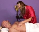 Aurora Snow deep penis tissue massage